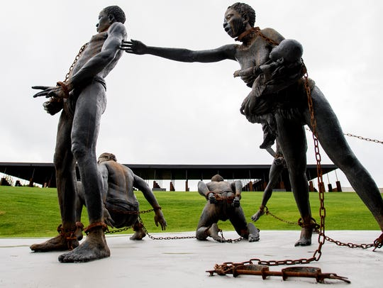 The slavery statue at the National Memorial for Peace