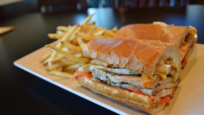 The pork banh mi from Fat Katz Sports Bistro, a JLB pick for best near-the-ballpark eats.