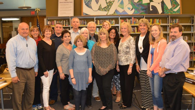 The Randolph Board of Education honored all staff who retired over the past year with certificates and board members and Superintendent Jennifer A. Fano thanked staff for their years of service to Randolph Township Schools.
