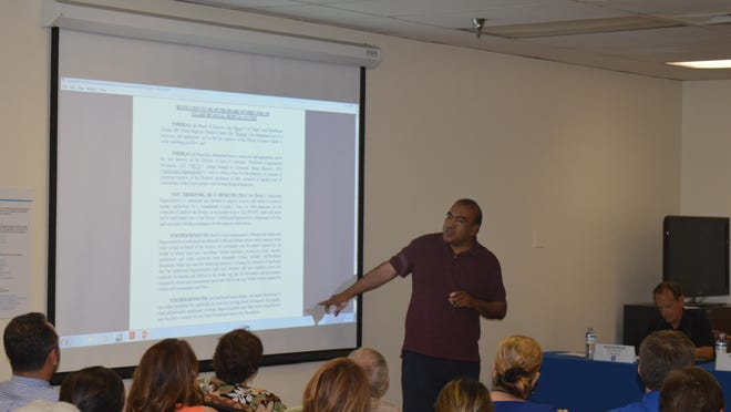 Jose Sigala, Tulare council member, speaks at the Tulare Regional Medical Center Board of Directors' meeting on Tuesday.