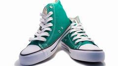 pair of green sneakers