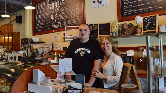 Cody Stillwagon and Stacey Wohl at Cause Café