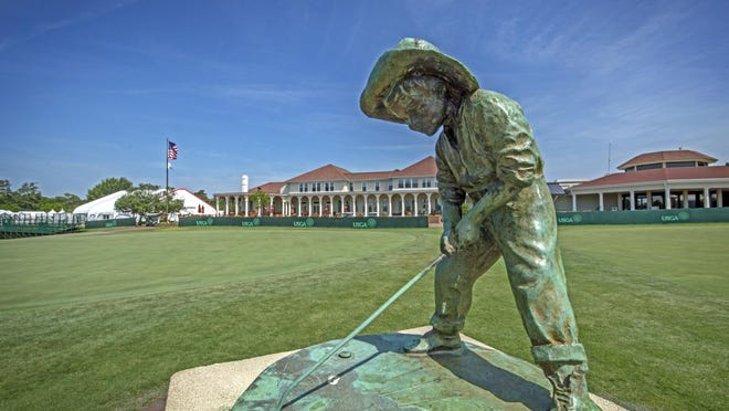 The Putter Boy statue at Pinehurst Resort. A North Carolina bill has set the stage for a national sports organization to build facilities in the state, and speculation is that it will be the USGA, because of its increasing use of the state's courses for national championships.