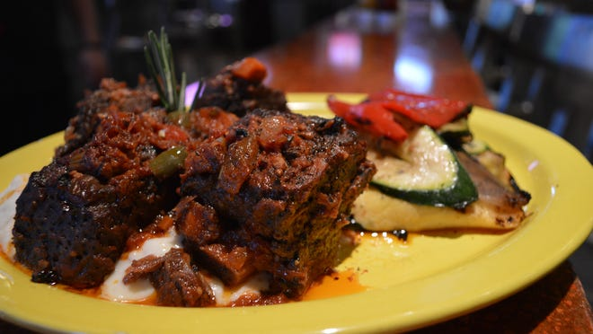 Beer-braised short ribs are a new popular entree on the menu at House of Brewz in the Gulf Coast Town Center.