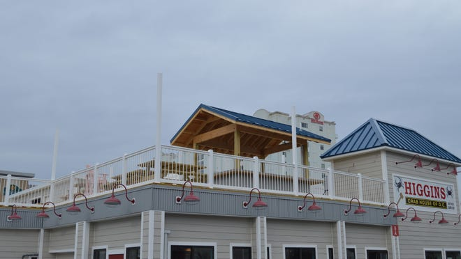 The new roof-top deck will provide an additional 200 seats for Higgins Crab House on 31st Street in Ocean City.