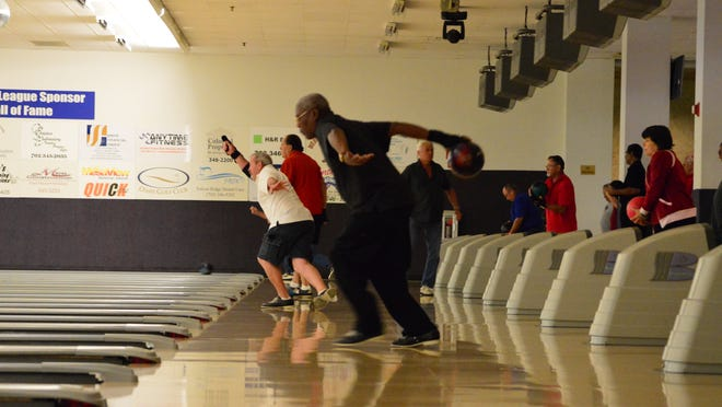 Bowlers take advantage of the lanes at the Virgin River Casino Bowling Center.