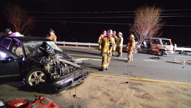 Police on Tuesday afternoon identified a Hockessin man killed in this two-vehicle crash Monday night on Lancaster Pike.
