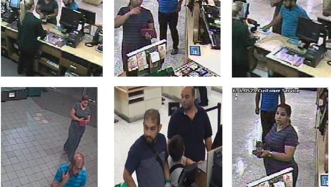 Brevard County Sheriff's Office deputies are searching for suspects in scams at Publix stores throughout Brevard.