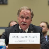 Keith Creagh, director of the Michigan Department of Environmental Quality, testifies before a House committee on the Flint crisis.