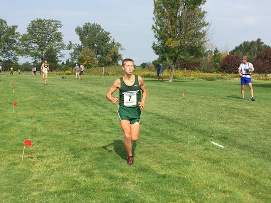 BU's Dan Schaffer, shown here running cross country, was named America East Track Performer of the Week.