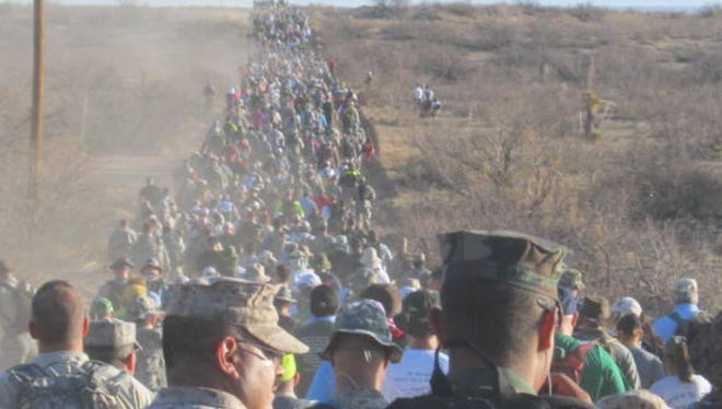 The 27th annual Bataan Memorial Death March is set to begin Sunday at the White Sands Missile Range.  More than 6,500 marchers from throughout the world will walk to honor both the Bataan fallen and World War II survivors. The 26.2 mile or 14.2 mile endurance test is considered one of the hardest marathon-length routes in the United States.