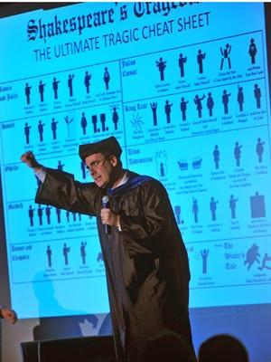 Jeffrey M. Bender as Professor Jeffrey Bendyerear at the Shakespeare Theatre of New Jersey in Madison in 2013.