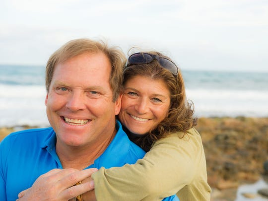 """We'd be surfing, river rafting or skiing and then wander away alone for 10 minutes to do the Harmony Exercise. It has guided us so much throughout our lives,""  said Bari Denny, with husband John."