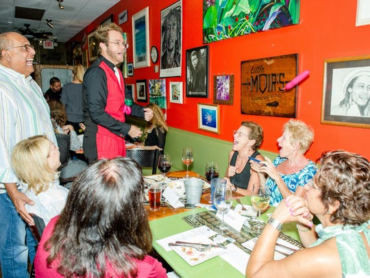 Laughter abounded at the sold-out culinary event, which