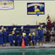 A handful of swimmers for the girls team at Irondequoit knelt during the national anthem on Sept. 26.
