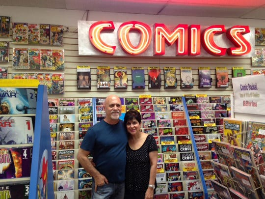 Alan and Marsha Giroux, owners of All About Books and Comics.