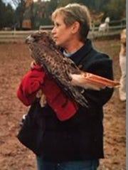 Wildlife rehabilitator Ellen Miller Kalish, shown here
