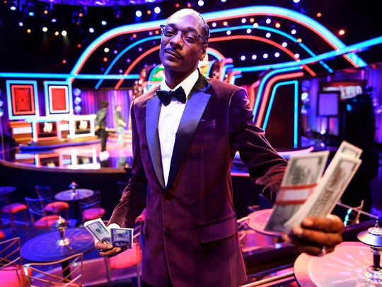 """Snoop Dogg on the set of the """"The Joker's Wild.'"""