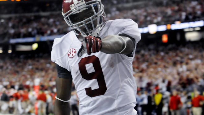 Alabama wide receiver Amari Cooper was taken fourth overall by the Oakland Raiders in the 2015 NFL Draft.