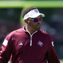 Texas A&M Aggies head coach Kevin Sumlin at Davis Wade Stadium.