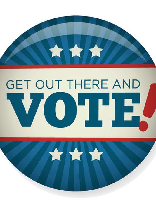 Retro Vote or Voting Campaign Election Pin Button or Badge