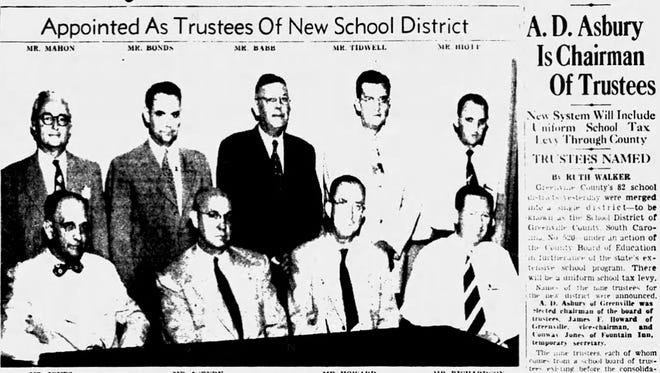 An article from the front page of The Greenville News on Aug. 24, 1951.