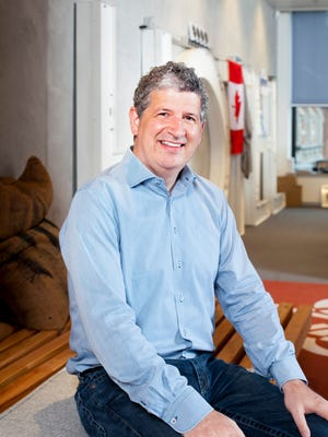 Darren Huston, president and CEO of The Priceline Group, CEO Booking.com, at Amsterdam Booking.com headquarters.