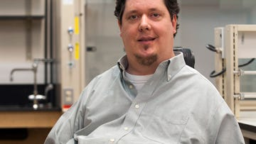 """Brad Duerstock, associate professor of engineering practice at Purdue University, is commercializing """"RoboDesk"""" technology, which makes it easier for people with disabilities to use mobile devices."""