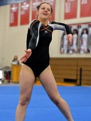 St. Cloud Tech junior Lara Aycock strikes a pose during
