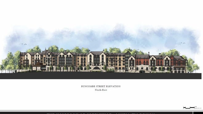 The Holbrook of Greenville is a 237-unit proposed senior living complex on Buncombe Street.
