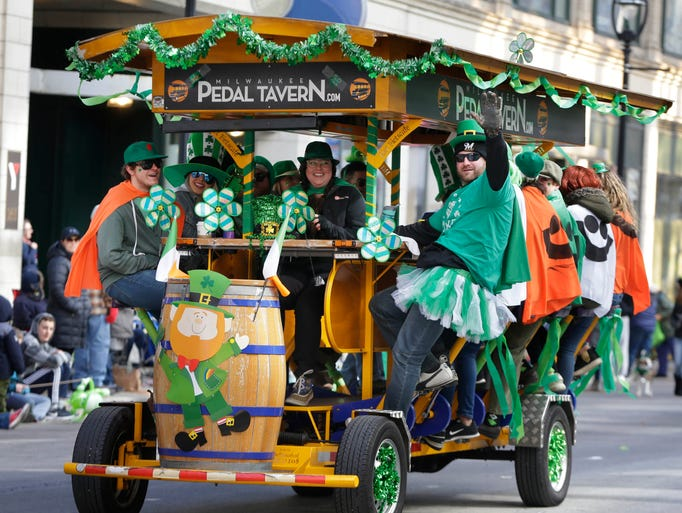 The Milwaukee Pedal Tavern was filled with riders and