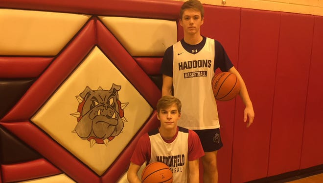 Haddonfield's Aiden Blake, top, and Ben Schroeter are the only starters on the team not to get hurt this year.