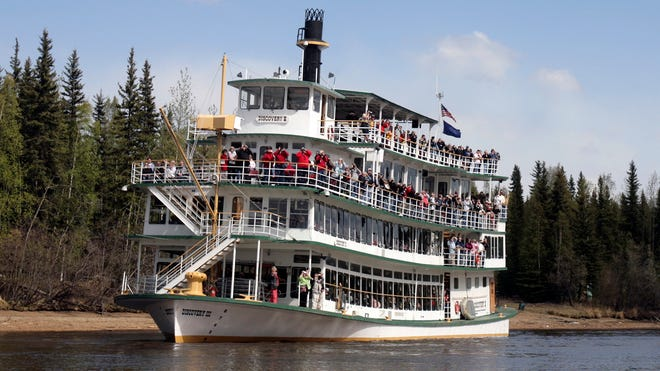 A voyage on the Discovery III riverboat is a popular tourist excursion in Fairbanks, Alaska.