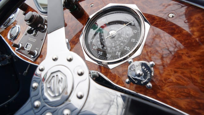 Right-side drive on the 1934 MG.