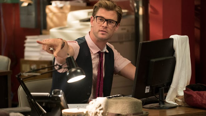 The Ghostbusters' new receptionist Kevin (Chris Hemsworth) in 'Ghostbusters.'
