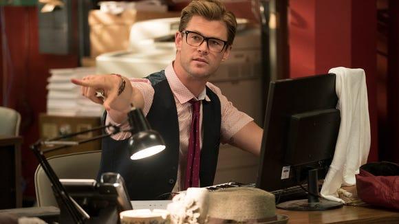 Chris Hemsworth in 'Ghostbusters.'