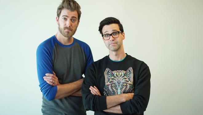 "Rhett James McLaughlin and Charles Lincoln ""Link"" Neal III , Rhett and Link of YouTube fame."
