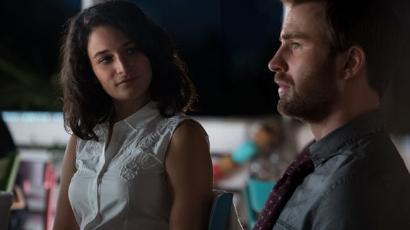 Jenny Slate and Chris Evans in 'Gifted.'