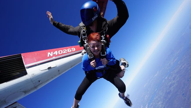"""Marie Nester, division director at Greystone Programs, participated in last year's """"Leap for Autism"""" fundraiser. This year's event will be held April 22."""