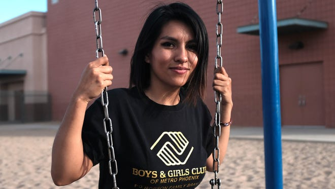 Johana Lopez works at the Robson Family Branch of the Boys and Girls Club in Phoenix. She attended the center when she was growing up.