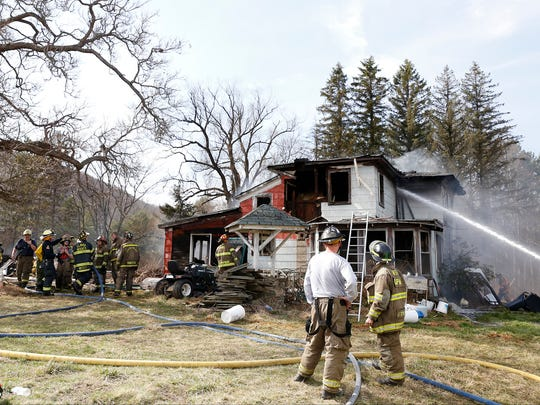 A fire destroyed a house Thursday afternoon on Bentley Road in Wellsburg. A shed and vehicle were burned in the blaze as well.