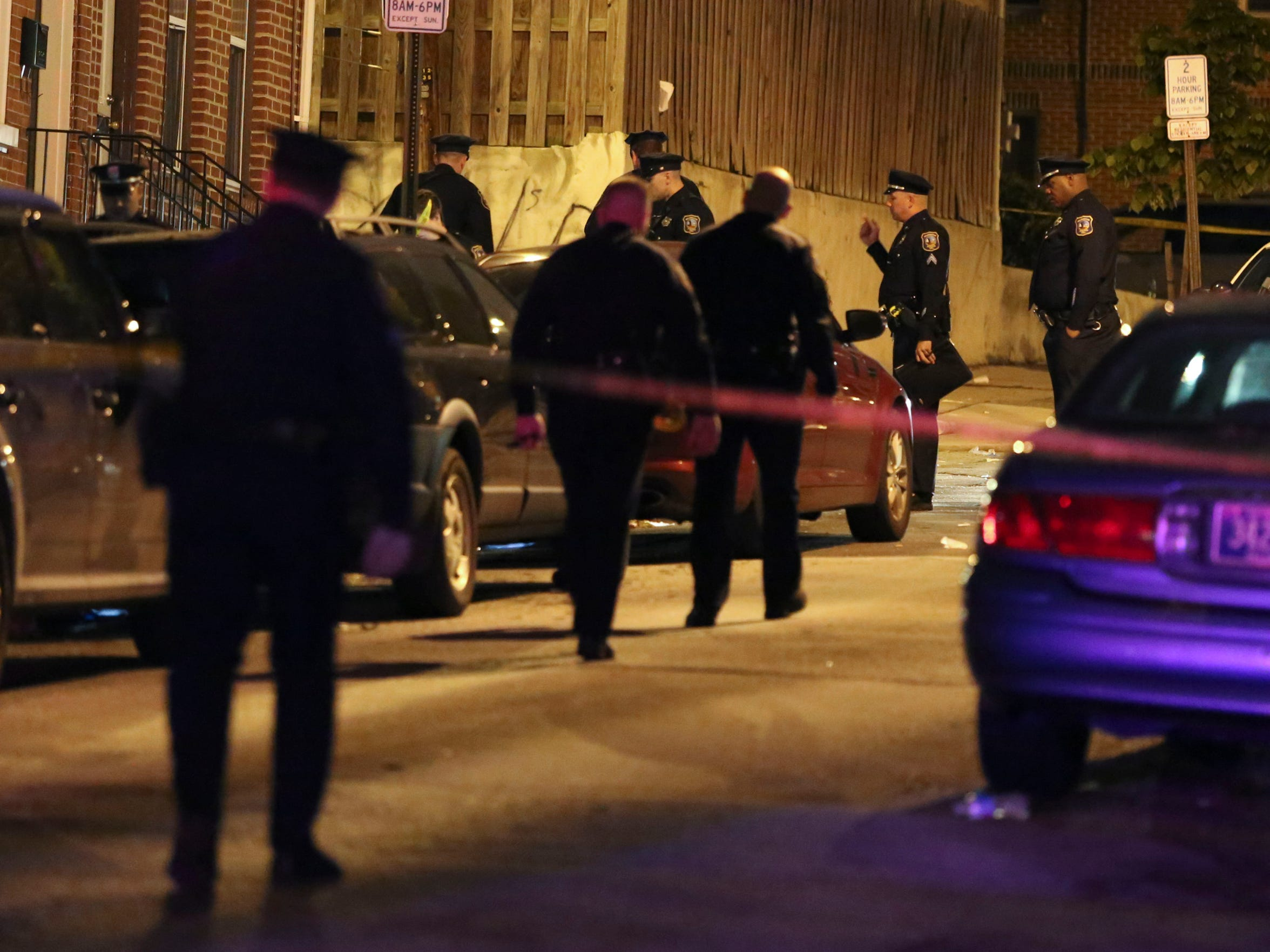 Wilmington police investigate a shooting in the 600 block of W. 6th Street, reported about 10:40 pm Tuesday.