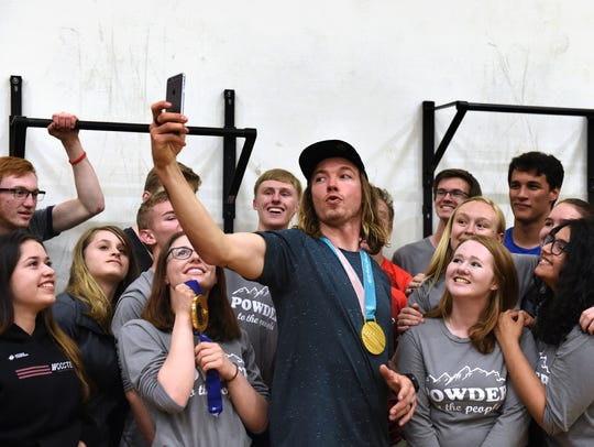 Olympic Gold Medalist David Wise, a Wooster high graduate,