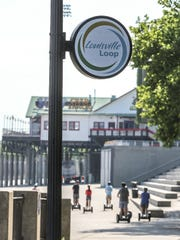 Along Louisville's waterfront and the Louisville Loop.