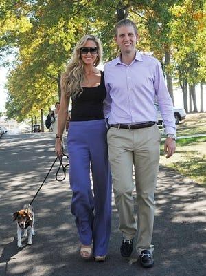 Eric Trump and Lara Yunaska on Sept. 28, 2014.