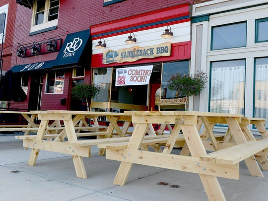 Saddleback Barbecue, a new restaurant in REO Town, will open Tuesday and is located at South Washington Avenue and South Street.