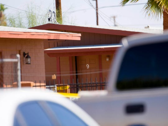 Duplex No. 9 is where four people were found dead in