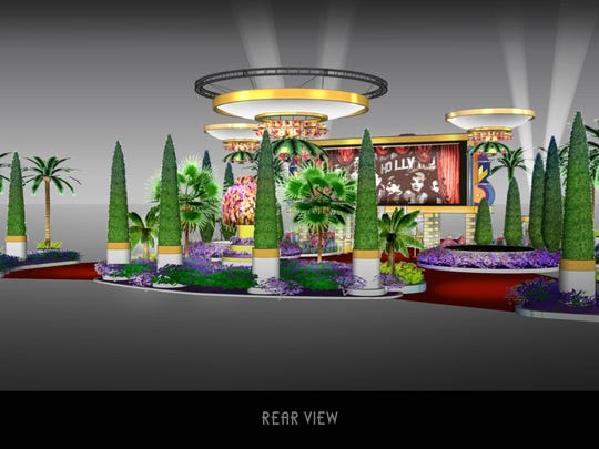 Rendering of back of entrance to the movie-themed Philadelphia Flower Show in the Pennsylvania Convention Center from Feb. 28 to March 8.