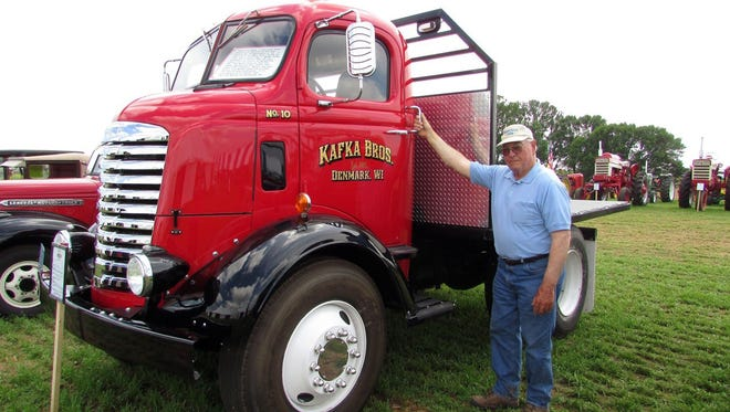 Bob with his favorite truck at Farm Technology Days in Algoma.