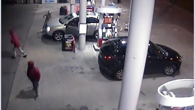 Metro police detectives are searching for three men involved in an attempted carjack at a Kroger gas station off of Gallatin Pike.